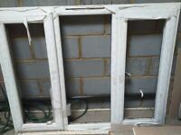 Window frame and glass panes
