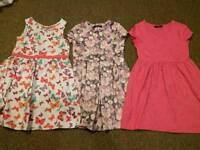 Girls 5-6 years bundle (dresses and coat etc)