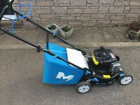 MacAllister lawnmower. 125 Briggs and Stratton engine. Self propelled. 1 year old.