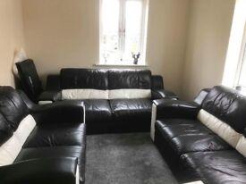 3 piece leather sofa suite