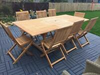 Garden table with 8 chairs
