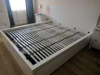 Superking bed frame with storage drawers