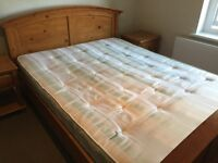 FREE - MUST COLLECT Excellent condition pine king size bed with matching bed side tables and drawers