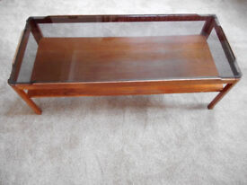 glass topped coffee table