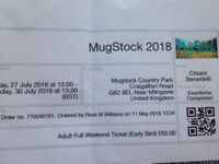 Mugstock weekend ticket 27th July to 30th July 2018 for sale-£65