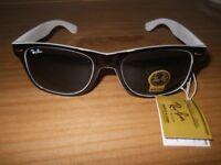 unisex sunglasses retro white black ray ban will post