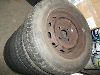 5 x 165-70-13 wheels/tyres for peugeot or citroen 106 / saxo