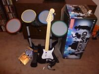 Rock Band PS3 + 3 Games MINT CONDITION