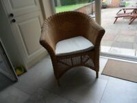 Wicker chair, bought from John Lewis.