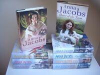 Anna Jacobs hardback books .