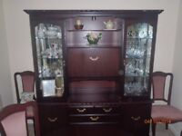 hardwood display cabinet