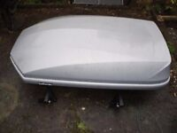 Large Halfords roof box and roof bars