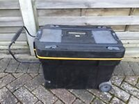 Large wheeled plastic toolbox .Used condition.