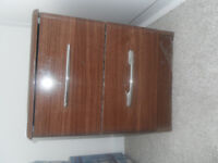Bedroom furniture set incl. wooden dressing table & mirror, 2 x bedside tables and chest of drawers