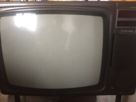 Vintage 1979 Toshiba Blackstripe Colour tv. Working condition- U.K. plug