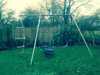 TP Triple Swing Set - Swing, Pirate Boat and climbing ladder