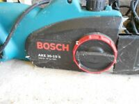 Bosch AKE35 91S electric chainsaw, 1900W, 35cm blade, plus accessories