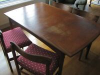 4 Dining chairs and G-Plan dining table