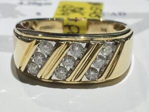 #1545 10K YELLOW GOLD CUSTOM MENS DIAMOND .50CT RING *SIZE 9 3/4* APPRAISED AT $2100.00 SELLING FOR $695.00
