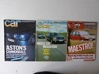 Vintage editions of CAR Magazine. 3 issues from 1982.