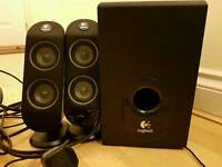 Logitech 2.1 speakers with subwoofer GREAT condition!
