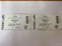 2 x Arab Strap tickets, Barrowland, Saturday Oct. 15
