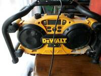 Dewalt builders radio . Not working . Spares or repairs