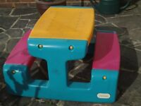 Little Tikes Large Picnic Table - Suitable for Outdoors & for Kids approx 3-5 yrs