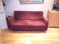 Comfy Two Seater Sofa - Purple