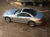 MERCEDES BENZ SL 350 500 55 SPORT AMG PANORAMIC CONVERTIBLE GREY LTHR FSH LOOK