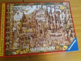 FIVE 1000 PIECE JIGSAW PUZZLES AS NEW