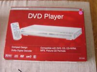 A new boxed unused DVD Player
