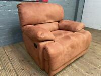 HARVEYS SUEDE ARMCHAIR RECLINER IN EXCELLENT CONDITION