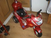 Ride on 6 volt police Trike rechargerable battery & mains plug
