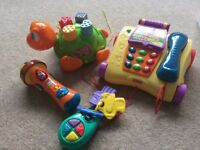 Selection of interactive baby toys