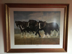 Large framed 'Horse Power' picture