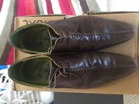mens / boys next brown leather shoes