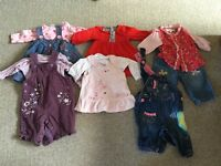 6 x baby girl outfits 0-1 month