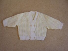 Cardigan - baby girl, hand knitted, new