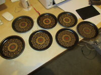 Denby Arabesque SEVEN SIDE PLATES.... just £50.