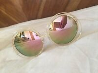CHLOE CARLINA ROSE GOLD MIRRORED SUNGLASSES DESIGNER CELEB - FREE TRACKED DELIVERY!
