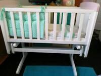Nearly new rocking crib