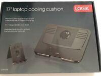 "Multi-Function 17"" Laptop Cooling Stand LOGIK LLAPCO16 - Black"