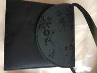 4 Handbags /2 x French Connection purple & Black / 1 x Clutch Black / 1 x Black Mini purse/bag