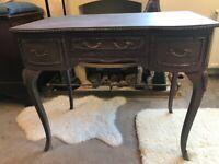 Elegant vintage wooden painted dressing table
