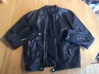 D SQUARED MENS LEATHER BOMBER EXCELLENT CONDITION