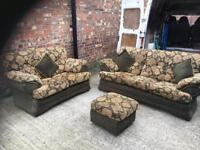 Lovely 3 seater and 2 seater with puffet