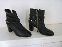 L.K.Bennett Black leather ladies ankle boots....EU size 38/ UK size 5.