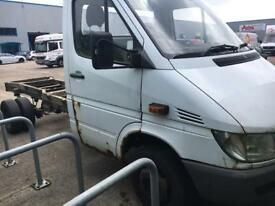 2004 04reg Mercedes sprinter cab/chassis 416cdi EXPORT