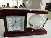 desk clock and pen holder